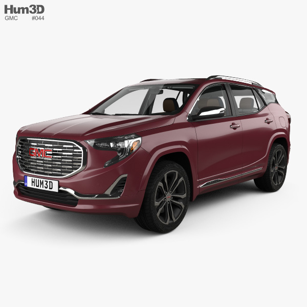 3D model of GMC Terrain Denali with HQ interior 2017