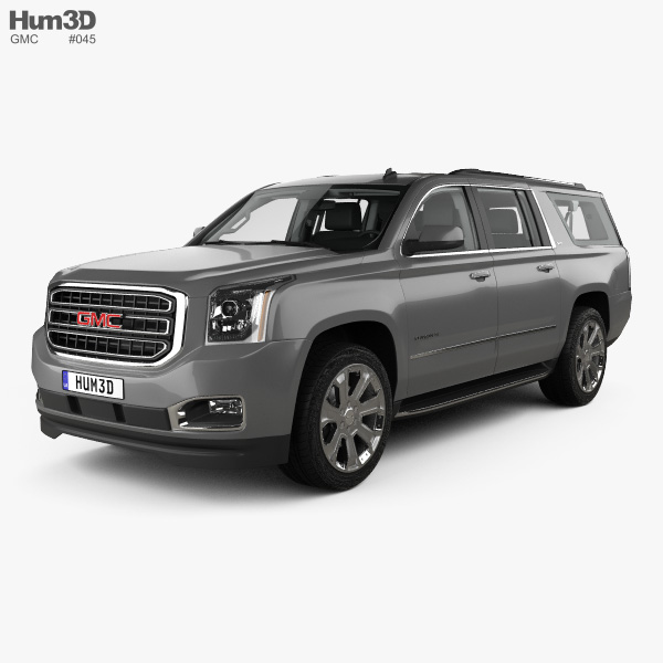 3D model of GMC Yukon XL with HQ interior 2014