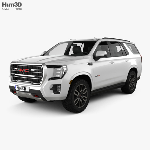 3D model of GMC Yukon AT4 2021