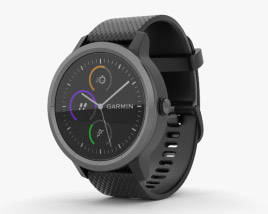 3D model of Garmin Vivoactive 3 Black with Slate Hardware