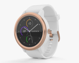 3D model of Garmin Vivoactive 3 White with Rose Gold Hardware