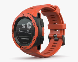 3D model of Garmin Instinct Solar Flame Red
