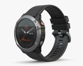 3D model of Garmin Fenix 6 Solar Silver