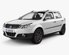 3D model of Geely MK Cross 2009