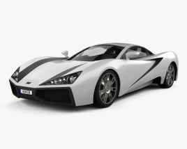 3D model of Generic Sport Car 2013