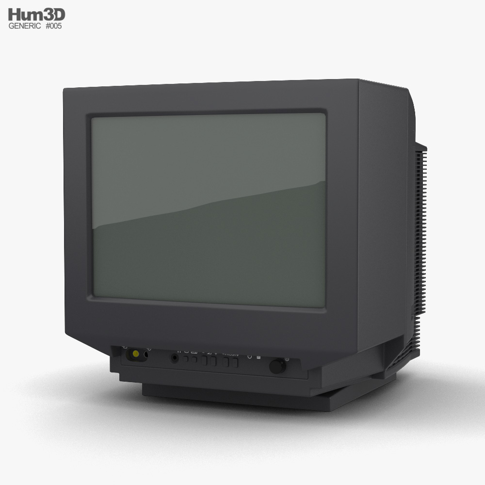 3D model of Generic CRT TV