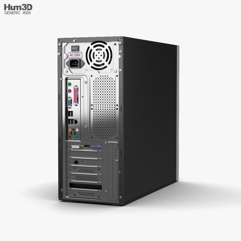 Generic Office PC 3d model