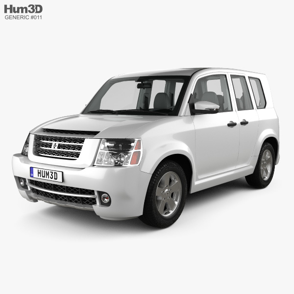 Generic SUV with HQ interior 2012 3D model