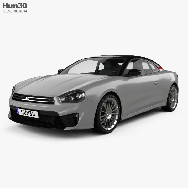 Generic coupe 2018 3D model