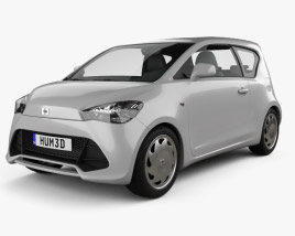 3D model of Generic hatchback 3-door 2012