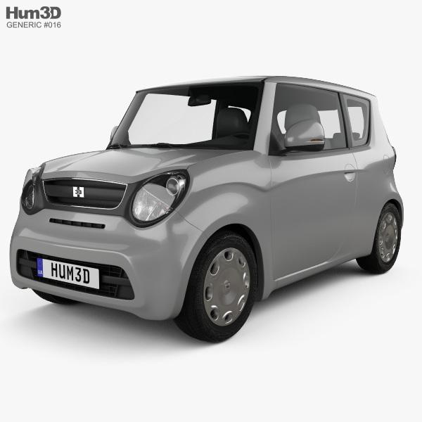 Generic hatchback 3-door 2014 3D model