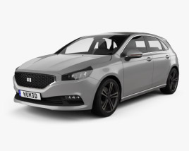 3D model of Generic hatchback 5-door 2019