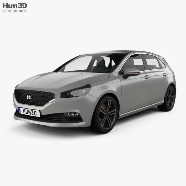 Generic hatchback 5-door 2019 3D model