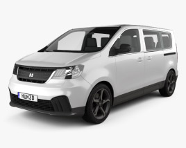 3D model of Generic Passenger Van 2019
