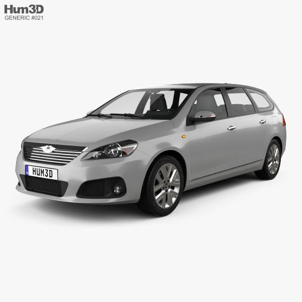 Generic wagon 2014 3D model