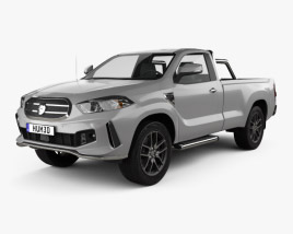 3D model of Generic Single Cab pickup 2016