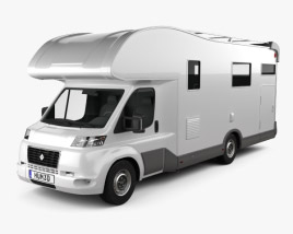 3D model of Generic Camper van 2019