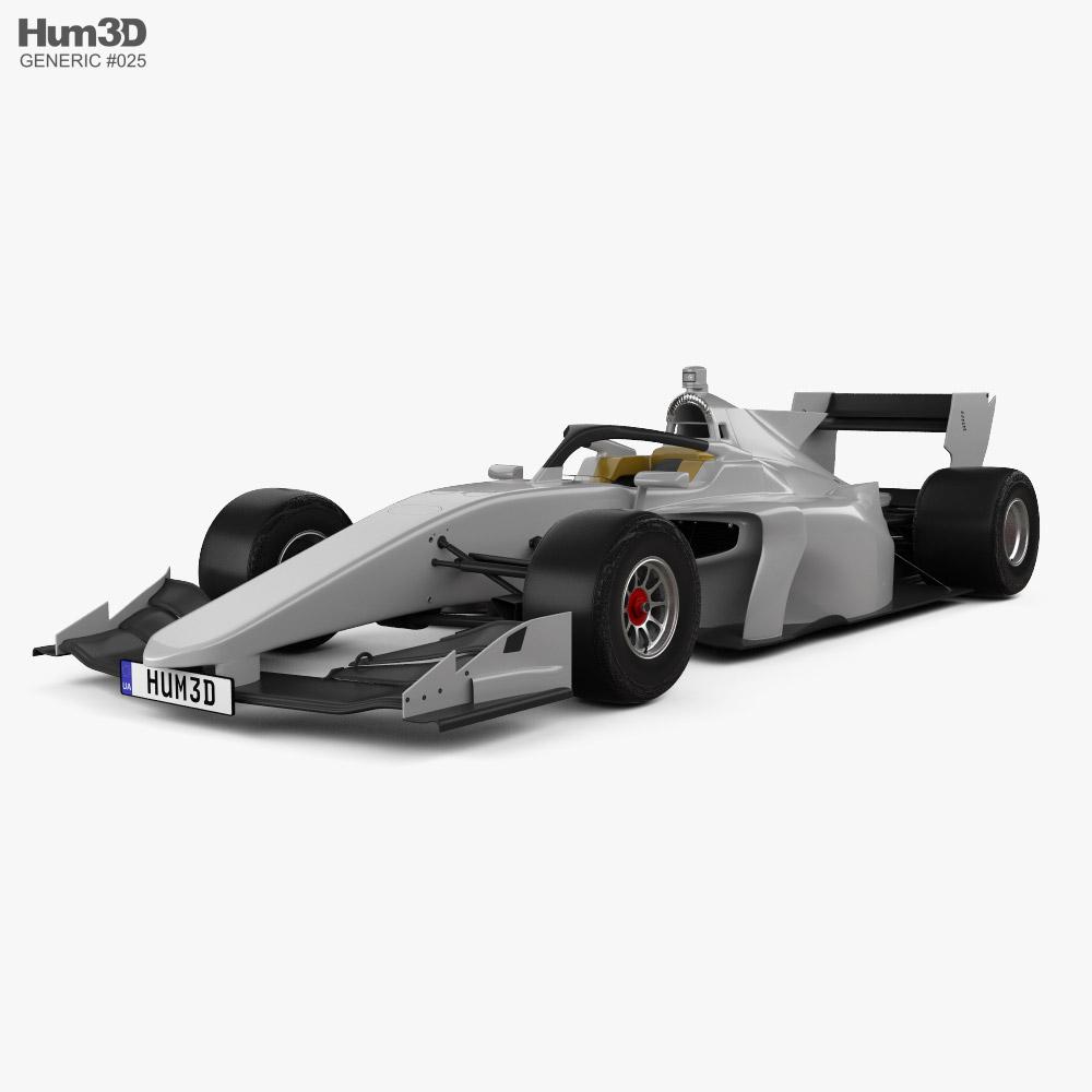 Generic Super Formula One car 2020 3D model