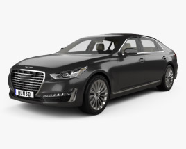 3D model of Genesis G90 with HQ interior 2017