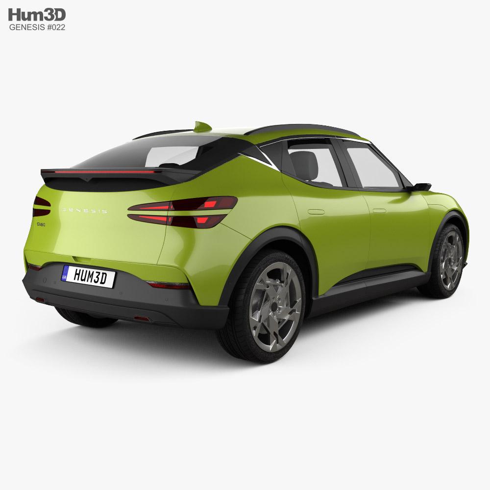 Genesis GV60 2022 3d model back view