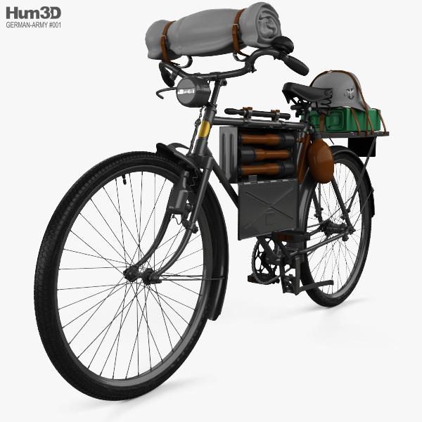 German Army M42 Truppenfahrrad Bicycle 1941 3D model