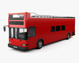 3D model of Gillig Low Floor Double Decker Bus 2012