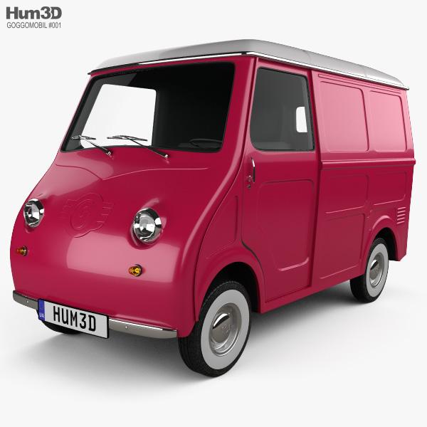 3D model of Goggomobil TL 250 (TL 400) Transporter Van 1956