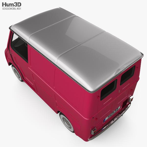 Goggomobil TL 250 (TL 400) Transporter Van 1956 3D model