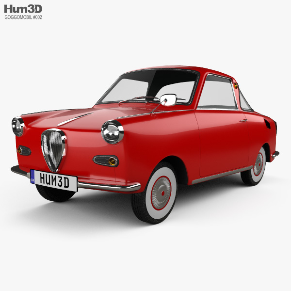 3D model of Goggomobil TS 250 Coupe 1957