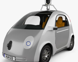 3D model of Google Self-Driving Car 2014