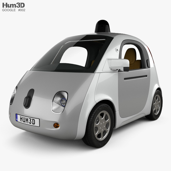 3D model of Google Self-Driving Car 2015