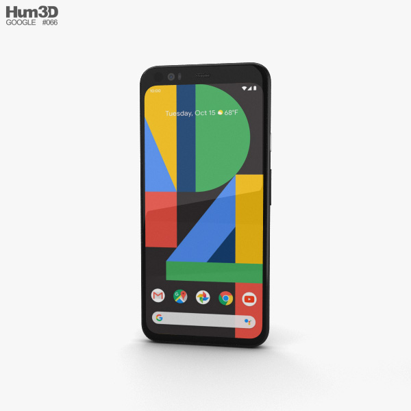 Google Pixel 4 Just Black 3D model