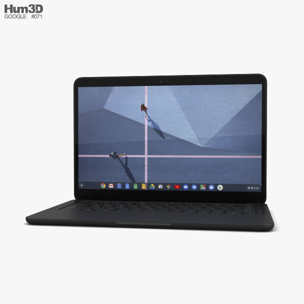 Google Pixelbook Go Just Black 3D model