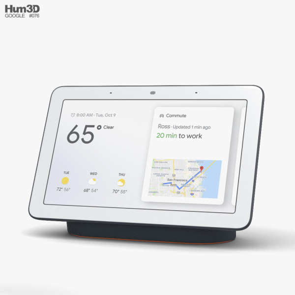 Google Nest Hub Charcoal 3D model