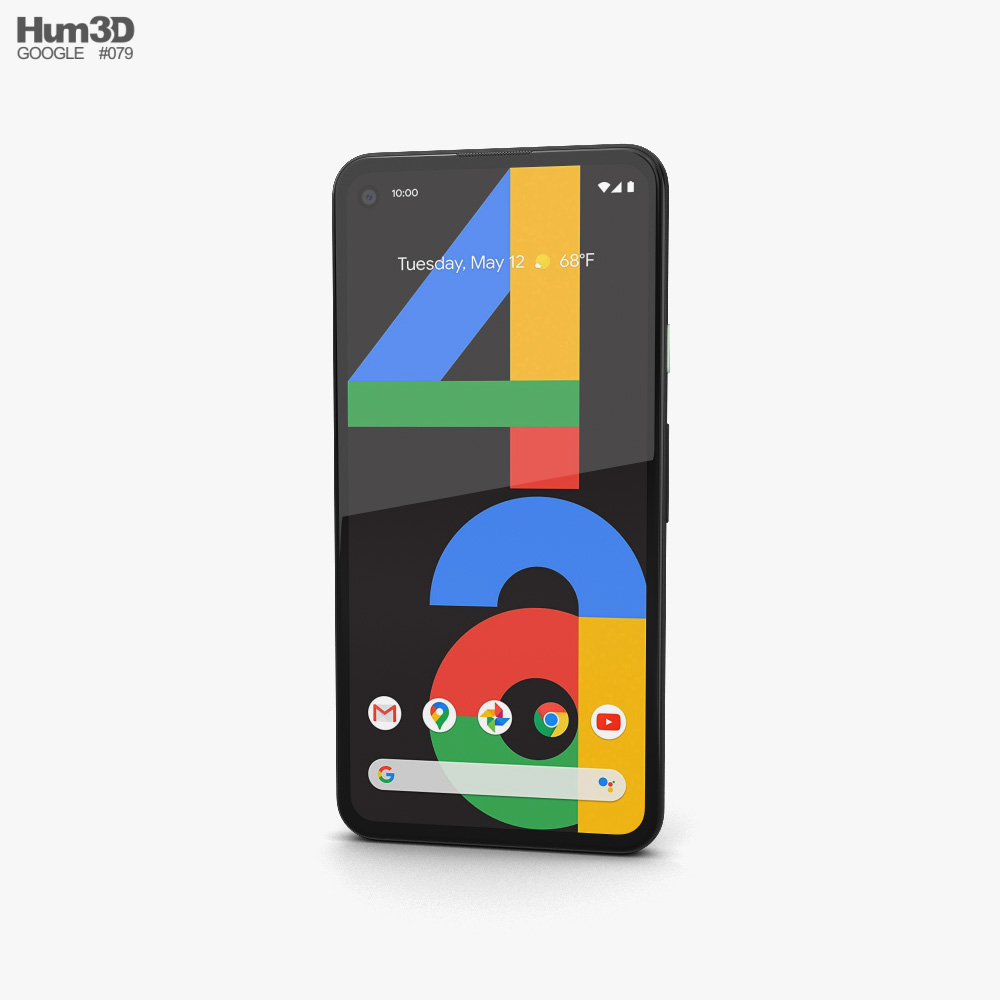 Google Pixel 4a Just Black 3D model