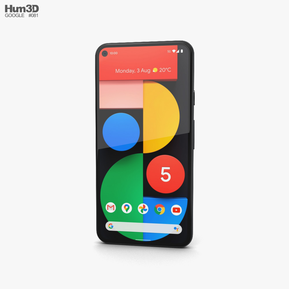 Google Pixel 5 Just Black 3D model