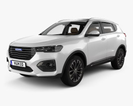 3D model of Great Wall Haval H6 with HQ interior 2019
