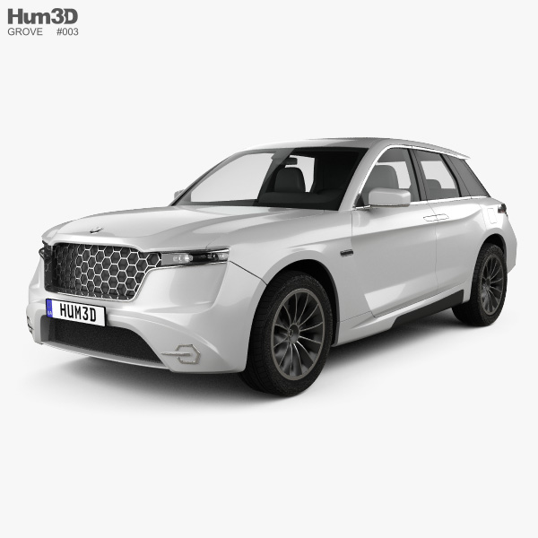 3D model of Grove Obsidian SUV 2020
