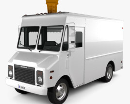 3D model of Grumman Kurbmaster Ice-Cream Van 2016