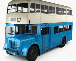 Guy Arab MkV LS17 Double-Decker Bus 1966 3D model