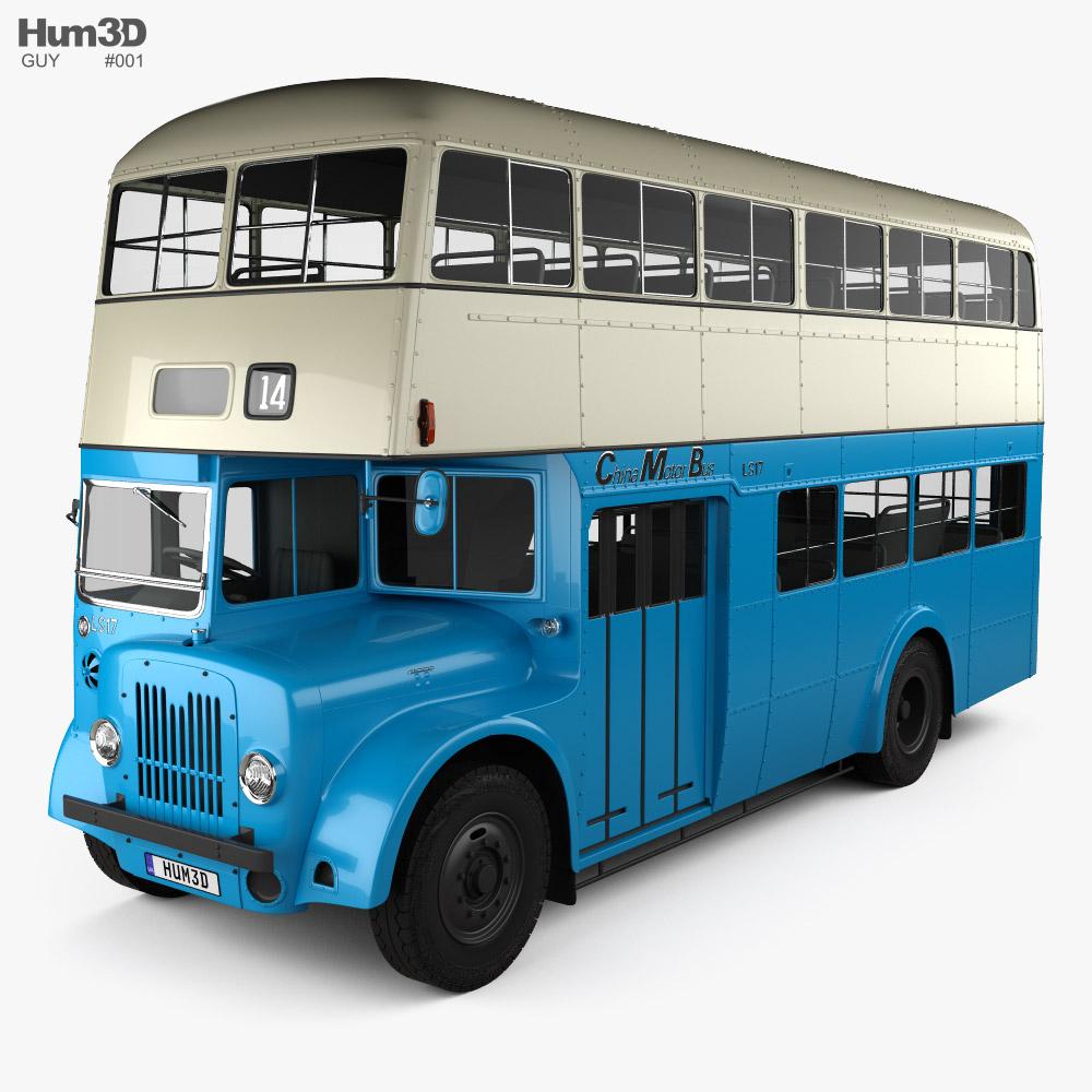 Guy Arab MkV LS17 DoubleDecker Bus 1966 3D model