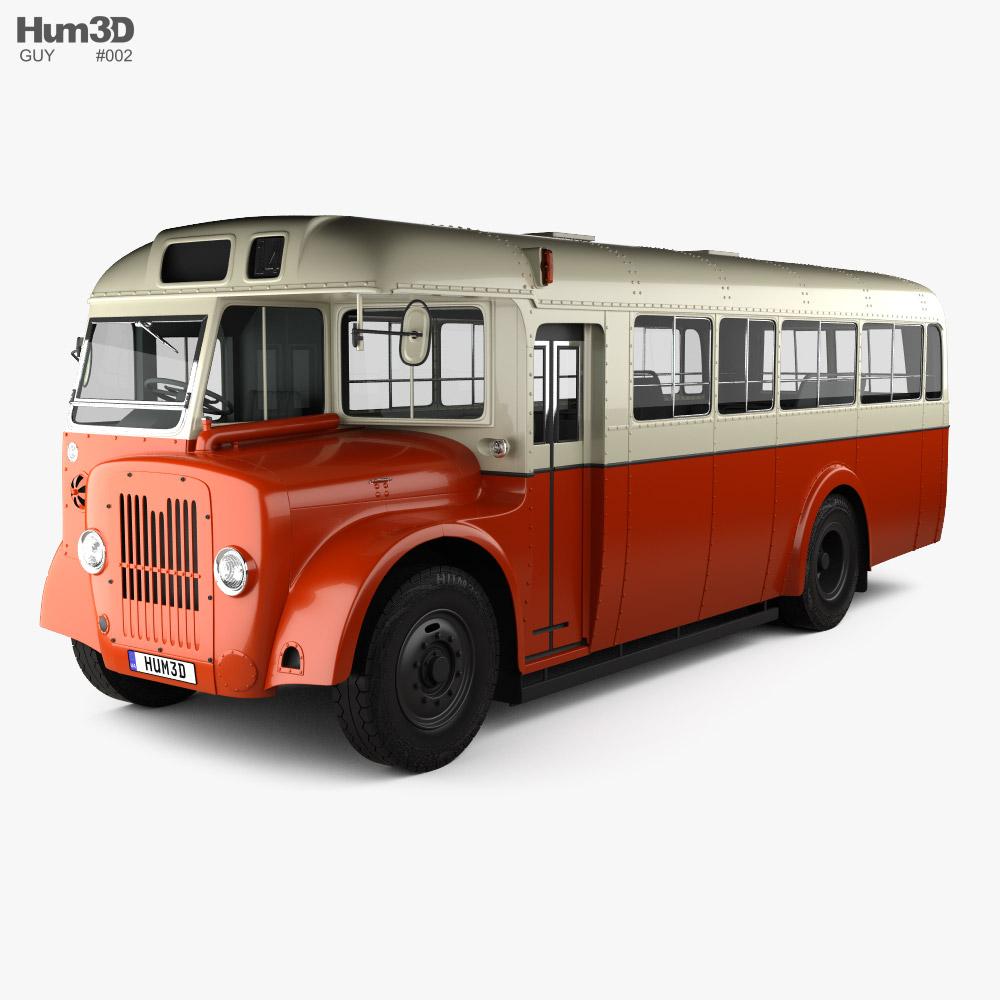 Guy Arab MkV SingleDecker Bus 1966 3D model