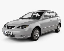 3D model of Haima 3 hatchback 2008