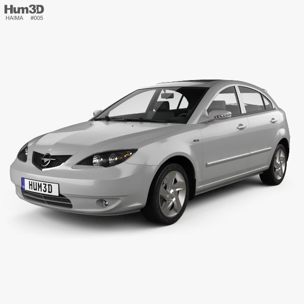Haima 3 hatchback 2008 3D model