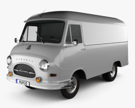 3D model of Hanomag Kurier Kastenwagen 1958