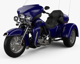 3D model of Harley-Davidson Tri Glide Ultra Classic 2012