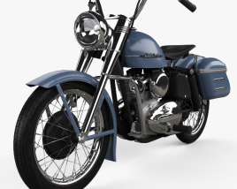 3D model of Harley-Davidson Model K 1953