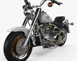 3D model of Harley-Davidson FLSTF Fat Boy 1990