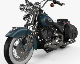 3D model of Harley-Davidson FLSTS Heritage Springer 2002