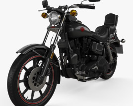 3D model of Harley-Davidson FXB Sturgis 1980